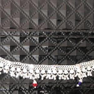 Bransoletka na noge srebrna koraliki