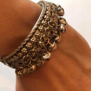 Bransoletka srebrna dzwonki