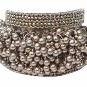 Bransoletka srebrna tribal kuleczki