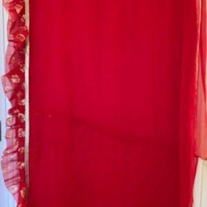 Sari czerwone ze zlotem  fabanki 045