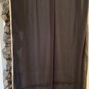 Sari czarne ze zlotem fabanki 044