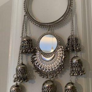 Bransoletka srebrna jhumki lusterka