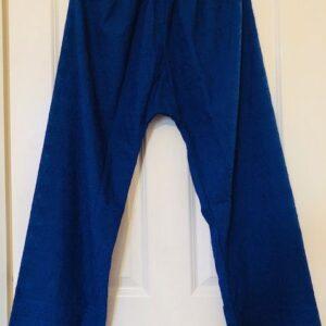 Spodnie bawelna niebieskie  S/M (226)