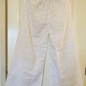 Spodnie bawelna biale  S/M 229