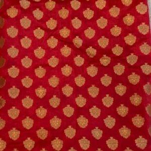 Material na choli czerwono zloty (168)