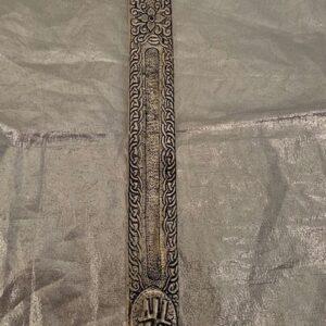 Podstawka do kadzidelka metalowa srebrna