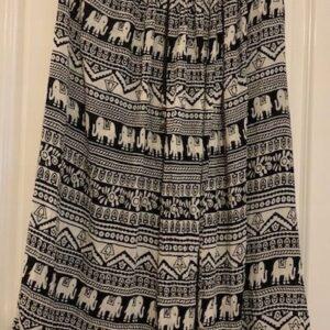 Spodnica czarno biala wzory (195)