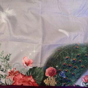 Poszewka kwiaty paw 45 x 68 cm