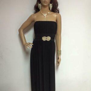 Sukienka czarna ze zlotem (219)