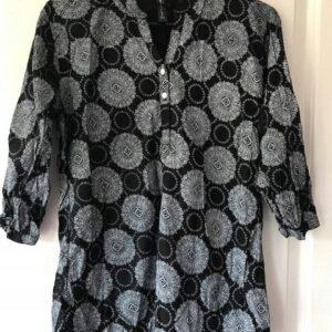 Bluzka czarno biala S