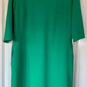 Sukienka zielona kieszenie XL/XXL (414)