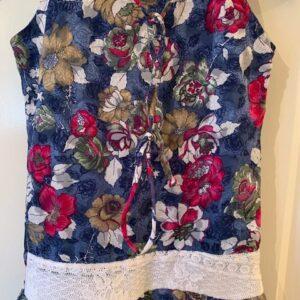 Sukienka kwiaty dziewczynka 9-10 L (405)