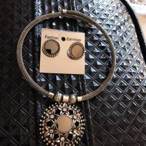 Komplet bizuterii srebrny  618