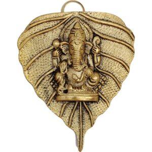 Ganesh na lisciu wiszacy metalowy  T95