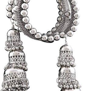 Bransoletka srebrna jhumki zakrecana T25