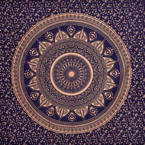 Zaslony niebiesko zlote mandala 200 x 208 T10