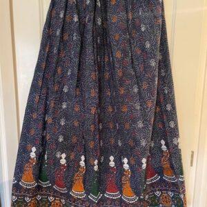 Spodnica kolorowa, zlota tasma bawelna T69