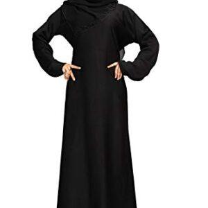 Abaya czarna plus szal M/L  S042
