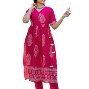 Sukienka plus spodnie różowe  S  Indie S050