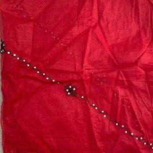 Dupatta szal czerwona z czarnym Indie 268