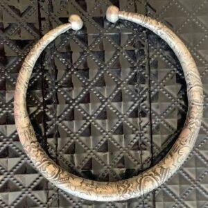 Bransoletka na nogę metalowa wzory Indie