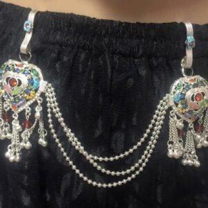 Zawieszka do sari spodnicy srebrna kolorowa Indie