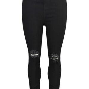 Legginso jeansy  Boohoo 42/44 czarne   S134