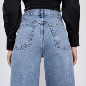 Spodnie jeansowe ZARA niebieskie  S (A047)